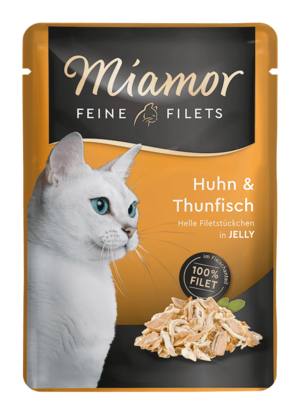 Miamor Feine Filets in Jelly Huhn & Thun  Frischebeutel