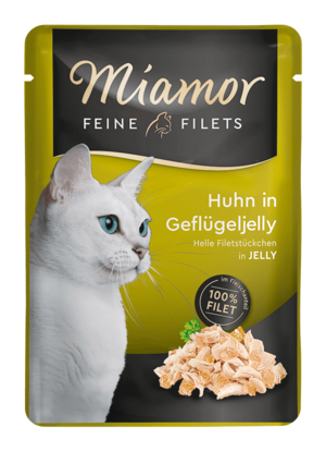 Miamor Feine Filets in Jelly Huhn in Geflügeljelly  100g