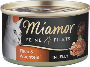 Miamor Feine Filets in Jelly Thun & Wachtelei  100g