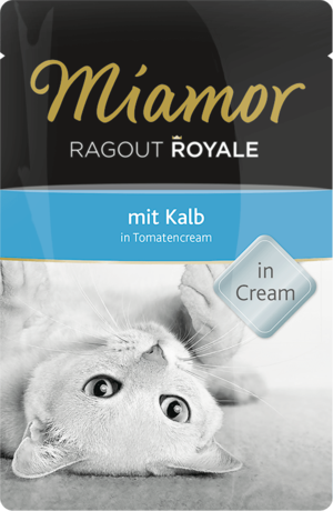Miamor Ragout Royale in Cream Kalb in Tomatencream 100g