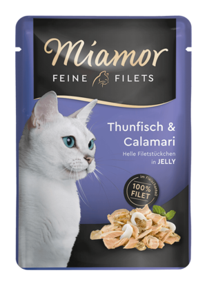 Miamor Feine Filets in Jelly Thun & Calamari  100g