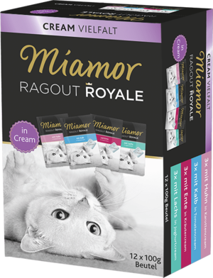 Miamor Ragout Royale in Cream Multibox Adult - 4 Sorten in Cream  100g