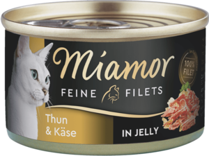 Miamor Feine Filets in Jelly Thun & Käse  100g
