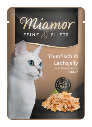 Miamor Feine Filets in Jelly Thunfisch in Lachsjelly  100g