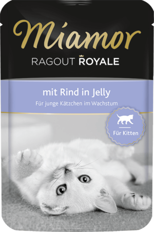 Miamor Ragout Royale in Jelly Kitten - mit Rind 100g