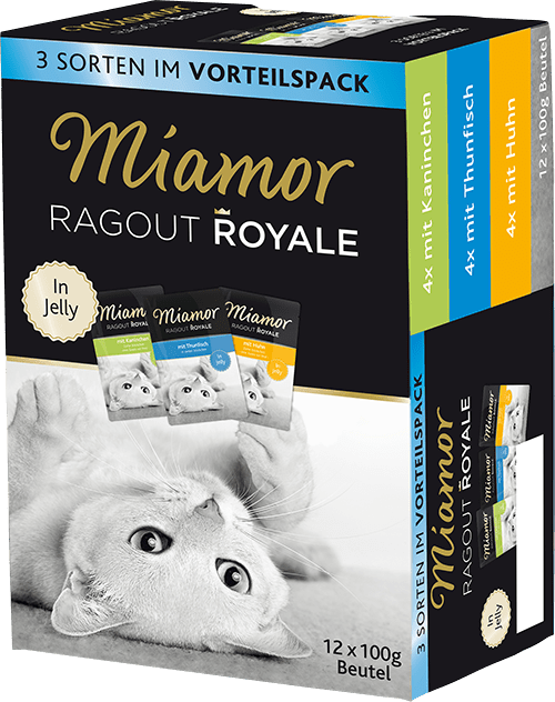 Miamor Ragout Royale in Jelly Multibox Adult 1  (mit Kaninchen / Thunfisch / Huhn in Jelly) 12x100g