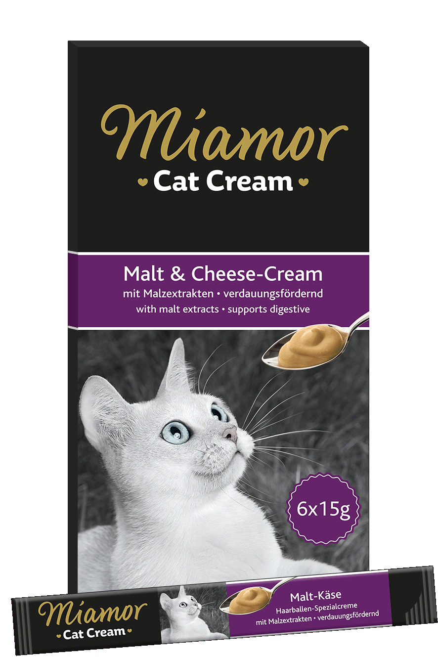 Miamor Cat Snack (Cream) Malt-Cream + Käse 6x15g